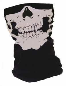 Tour de cou Masque Cagoule Polaire «Ghost – Tete de mort» – Matière Microfibre + Polaire – Style Call of Duty Ghosts Modern Warfare MW3 Black Ops COD Battlefield Medal of Honor Xbox 360 One Ps3 Ps4 – Airsoft – Paintball – Ski – Moto – Biker – Outdoor