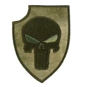 A-TACS FG Punisher Shield US Marine Navy Seals DEVGRU Morale Hook-and-Loop Écusson Patch