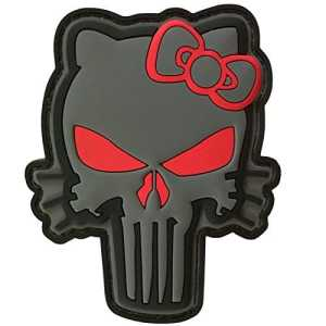 ACU Punisher Hello Kitty PVC Gomme 3D Morale Tactical Fastener Écusson Patch