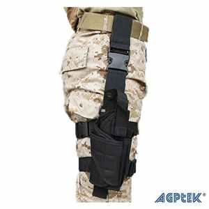 AGPtek Armée Tactique Pistolet Jambe Holster de Cuisse Noir