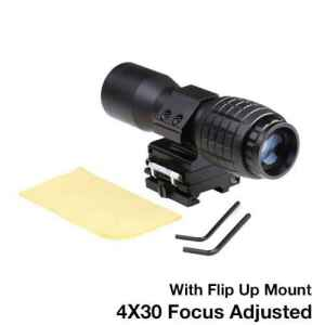 Asah 4X Magnifier FTS Flip to Side for Similar Scopes Sights or Eotech AimpointMount M4 AEG by RiLong