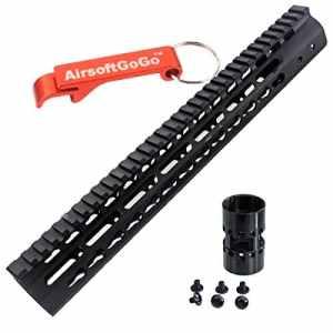 CNC Aluminum 13.5″ Key Mod Rail Handguard pour M4 M16 SR16 SR25 Marui G&P CA Airsoft AEG [pour Airsoft uniquement]