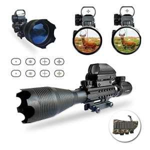 Lunette de visée,UMsky Portée Rifle optique 4-16x50mm Avec Lumineux De Réticule Optique Rouge Vert portée Illumination double avec holographique