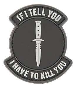 Si Je vous Informent tactique en caoutchouc Moral Patch avec Velcro® Marque Crochet au dos.