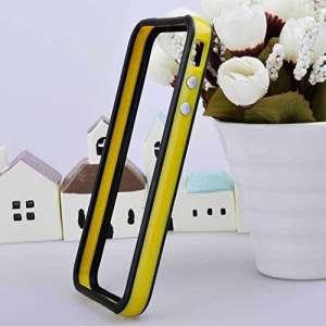 Simple pour Iphone 5/5s en TPU Bumper de Protection en Silicone Jaune/noir TB1 Products ®