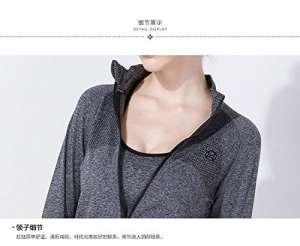 unory (TM) nouvelle Gym chemises femmes Sweat à capuche d'entraînement fitness Vêtements sport Sweats pour femelle à capuche T-shirt Manteau Veste course à pied Tés Tops M gris
