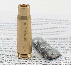 MAYMOC, calibre 7,62 x 39 mm cartouche Laser Bore Sighter simbleautage