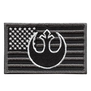 ACU USA American Drapeau Star Wars Rebel Alliance StarWars Subdued Morale Brodé Broderie Sew Thermocollant Écusson Patch