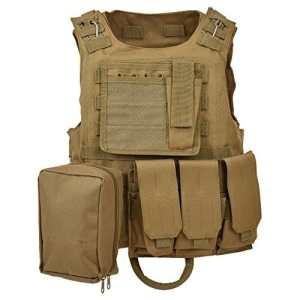 militaire tactique Cross Draw Gilet pour l'armée Combat Jeu Jungle et activités de plein air, vest-tan-bag