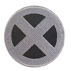 X-Men Logo Gray Wolverine XMen Cosplay Costume Embroidered Sew Thermocollant Écusson Patch