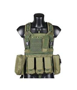 90points Veste tactique CS extérieur de combat avec Holsters et pochettes, couleurs assorties, mixte, vert militaire