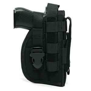 Yisibo Nylon Tactique Modulaire MOLLE de Jambe pour Pistolet Holster pour Droitier Shooters 1911 92 noir – Noir (Longueur x Largeur 19 x 12 cm)