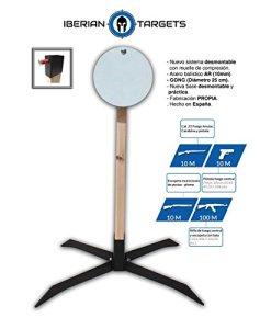 'Diana métallique en acier résistant pour tir. Pack Steel Target «Gong. Blanc de tir de métal.