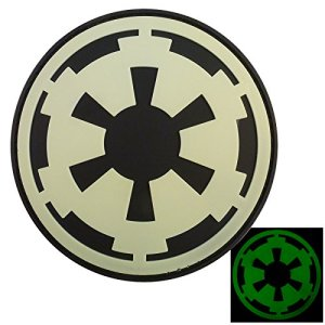 Glow Dark Star Wars Galactic Empire Insigne Imperial Logo PVC Gomme 3D Fastener Écusson Patch