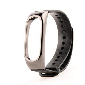 Bracelet Ollivan Bracelet métal en fibre de carbone Bracelet de remplacement Bracelet de remplacement Accessoires pour bracelet étendu Pour Xiaomi Mi Band 2 Smart Miband