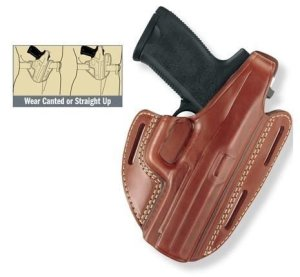 Gould & Goodrich Three Slot Pancake Holster, SIG P220, P226, Chestnut Brown, Right Hand 803-26R by Gould & Goodrich
