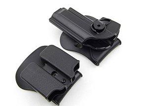 riorand Rétention de polymère de fleurs avec clip ceinture et double Magazine avec clip ceinture pour Beretta 92/96/M9tout en un clip ceinture