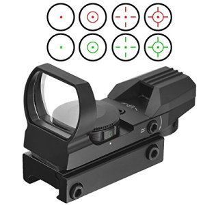 20mm airsoft Tactical ferroviaire multi réticule 4 Rouge et Green Dot Sight Portée queue d'aronde Monts Red Dot Sight