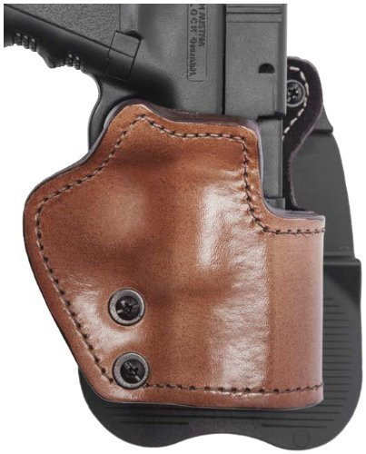 Front Line LKC04P-BR Open Top Paddle Holster, Brown, Right by Mako Defense
