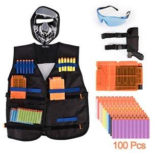 KepooMan Tactical Vest Kit pour Nerf Guns N-Strike Elite Series + sac de taille tactique