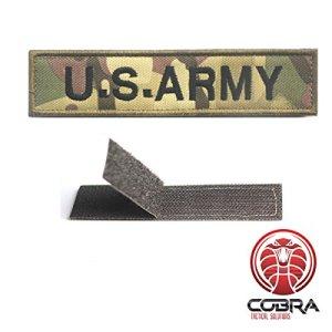 Patch Militaire Écusson Brodé avec sa lanière Velcro pour airsoft/paintball U.S.ARMY woodland pour Sac à Dos Tactique