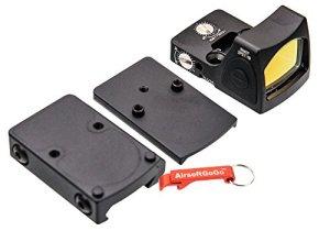 Ajustable RMR Rouge Dot Sight avec 1913 / Marui & WE G17 GBB Montage (Noir) – Porte-clés Inclus