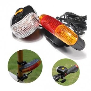 Bheema 3-en-1 7 LED indicateur vélo signal de tour de la corne de lumière de frein en garde