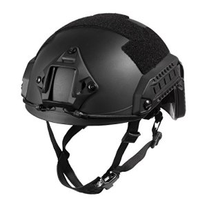 1T F24 Casque Tactique Maritime de Protection pour Airsoft Paintball (Noir)