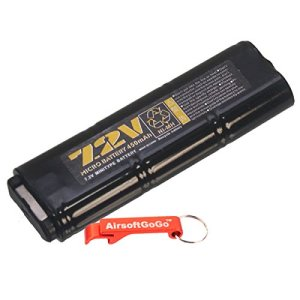 WELL 7.2v 450mAh NI-MH Micro Batterie pour MP-7 / R4 S?rie AEP – Porte-cl?s Inclus