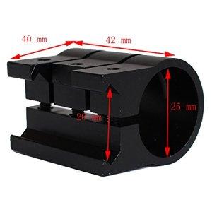 hongbest 20MM lampe de poche clip Weaver/Picatinny Rail Mount Laser/lampe de poche support spécial