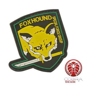 Foxhound Spécial Force Groupe Metal Gear Solid PVC patch Jaune velcro airsoft
