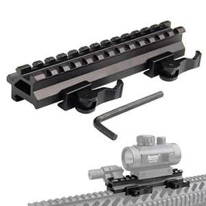KnightTec Rails de montage Picatinny Riser Tactical Dual 90 et 45 degrés Quick Release Detach 13-Profil moyen pour optique Red Dot Scope