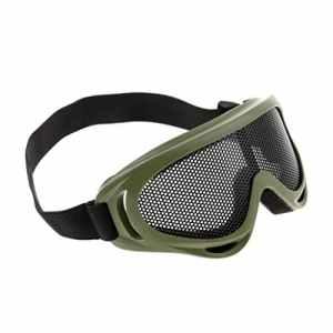 Dolity Protection des Yeux Masque Grillagé Lunettes Confortable Bandeau Elastique Résistant aux Chocs – Armée verte, 5.5×2.0inch