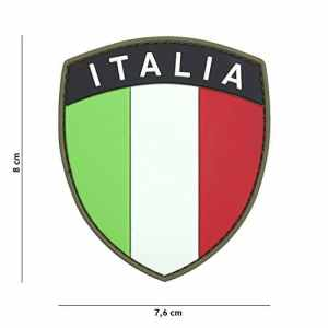 Patch 3D PVC Bouclier Drapeau Italia / Cosplay / Airsoft / Camouflage
