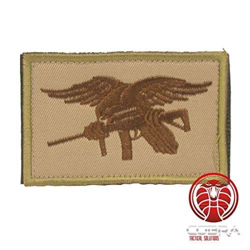 Cobra Tactical Solutions US Marine Navy Seals Insigne Marron Patch Militaire Morale Écusson Brodé Hook & Loop Airsoft Paintball