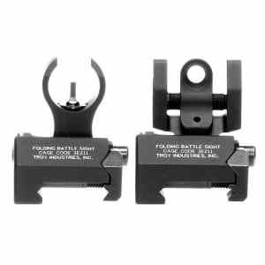 Troy Industries Micro HK Style avant et arrière pliable Bataille Sight
