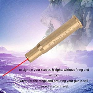 ACROPOLES Laser Bore Sight Bore Sighter Cal Multi Calibers Available Laser Sighter Line Level Hunting Kit for Scope Hunting Boresighter
