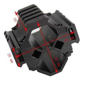 hongbest 20mm Picatinny Weaver Piste Accessoires de Chasse à Trois Voies Lampe de Poche Laser Oscilloscope Base