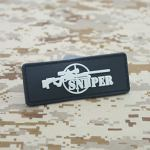 Cobra Tactical Solutions PVC Patch Sniper Black with Hook & Loop for Cosplay/Airsoft / Paintball
