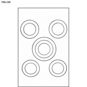 FBI Cible de cercle Lot de 25