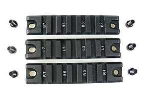 FIRECLUB Schiene 3 Stück HK G36 Montageschienen Handschutz Picatinny Rail