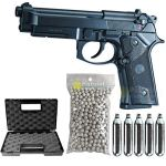KJWorks Airsoft-Pack Pistolet M92 / M9 A3 CO2 / Semi-Automatique/Full métal/Blowback/Puissance 0.5 Joule/avec Accessoires