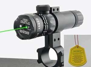 MAYMOC Ultra Bright Green Laser Sight Dot portée fusil portée avec gratuit Clamp prend en charge 18-21 mm. peut couper un tube de diamètre 25mm.