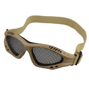dealmux guerre jeu tactique protection à paupières de Airsoft du couplage de la lentille de Les vitres des lunettes de couleur Kaki