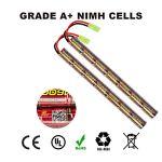 melasta 2pack 2 / 3A 8.4V Airsoft Batterie NIMH 1600mAh Batterie bâton avec Mini connecteur Tamiya pour Pistolet Airsoft AK47 MP5K RPK PKM