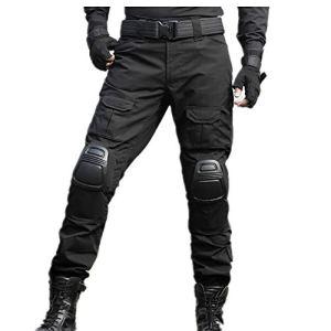 SGOYH Multi-Poche Pantalons de Service Tir au Fusil de Peinture Pantalon Tactique BDU Pantalon Airsoft avec genouillères