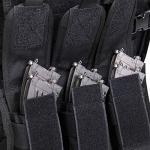 WOLIORS Gilet Tactique Réglable Airsoft Gilet Militaire de Combat pour Police Gendarmerie Gilet Tactique Léger – Noir