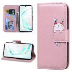 Miagon Animal Flip Coque pour Samsung Galaxy S8,Portefeuille PU Cuir TPU Cover Désign Étui Folio à Rabat Magnétique Stand Wallet Case,Or rose