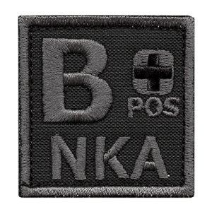 ACU B POS B+ NKA Subdued Groupe Sanguin Morale Tactical Brodé Broderie Fastener Écusson Patch