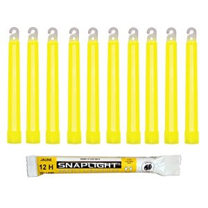 Cyalume Technologies- Carton de 500 Bâtons Lumineux Snaplight- 15 cm- 6»- Jaune- 12 heures
